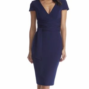 Dress the population Dana V-Neck Cap Sleeve dress